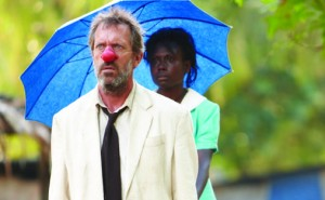 Hugh Laurie as Mr. Watts and Florence Korokoro as Grace Watts in MR. PIP