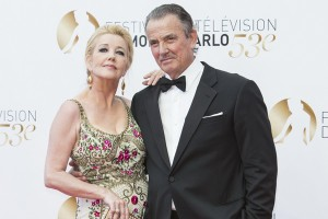 Melody Scott Thomas, Eric Braeden arriving at the Awards Ceremony as part of the 53rd Monte-Carlo TV Festival in Monte-Carlo, Monaco on June 13rd, 2013. Photo by Marco Piovanotto/ABACAPRESS. COM