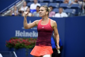 Simona Halep of Romania during her quarter final round round at the 2015 US Open at the USTA Billie Jean King National Tennis Center in the Flushing neighborhood of the Queens borough of New York City, NY, USA on September 9, 2015. Photo by Corinne Dubreuil/ABACAPRESS.COM | 515066_025 New York City Etats-Unis United States