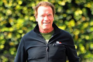 Arnold Schwarzenegger Stops By The Gym
