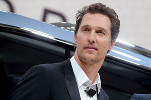 Matthew McConaughey At International Auto Show Press Preview Days - NYC