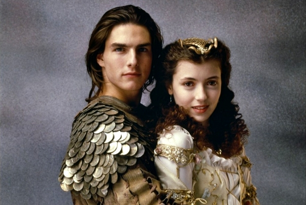 "Tom Cruise și Mia Sara în ""Legenda"""